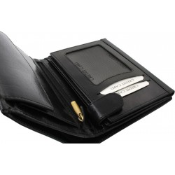 Portofel din piele cu protectie pentru carduri RFID
